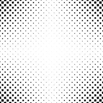 単色の抽象的な正方形のパターンの背景 - 角度の正方形からの白黒の幾何学的ベクトルグラフィック