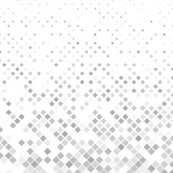 灰色の正方形のパターンの背景 - ベクトルイラスト