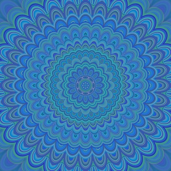 Психоделический орнамент мандалы - круговой симметричный векторный узор из концентрических овальных фигур