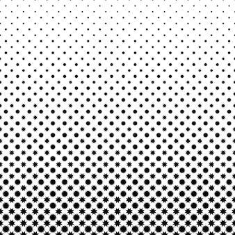 黒と白の星のパターン
