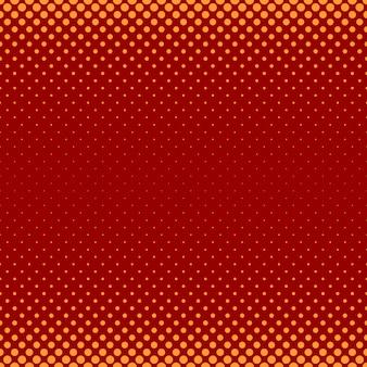 色抽象的なハーフトーンドットパターンの背景 - さまざまなサイズの円からのベクトル図