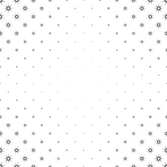 モノクロの星のパターン - 多角形の抽象的な背景デザイン
