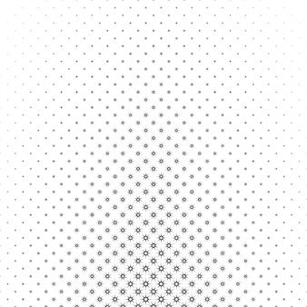 モノクロの星のパターン - 幾何学的なハーフトーンの抽象的なベクトルの背景のグラフィックデザイン
