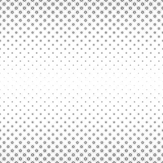 モノクロの星のパターン - 多角形からの抽象的なベクトルの背景