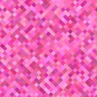 Розовый диагональный квадратный узор фон - геометрические векторные иллюстрации из квадратов