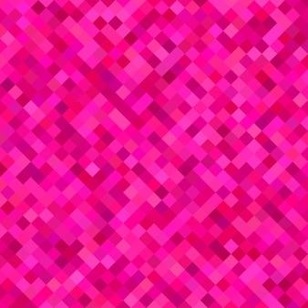 色のついた斜めの正方形のパターンの背景 - ピンクの色調の四角形からのベクトル図