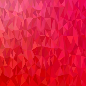 Геометрический абстрактный фон нерегулярного треугольника - векторная иллюстрация многоугольника из красных тонированных треугольников