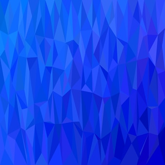 Геометрический абстрактный фон в виде треугольника - векторная иллюстрация полигональной мозаики из треугольников в синих тонах