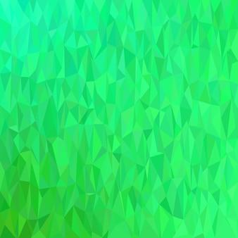 緑色の幾何学的なカオス三角形の背景 - モザイクベクトル図
