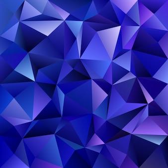 Абстрактный геометрический треугольный мозаичный фон - векторный графический дизайн из треугольников в синих тонах