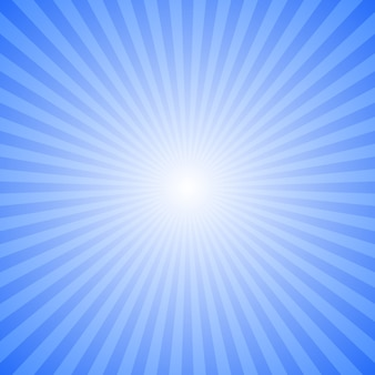 青の抽象的なレイバーストの背景 - ストライプレイからの動きベクトルグラフィックデザイン