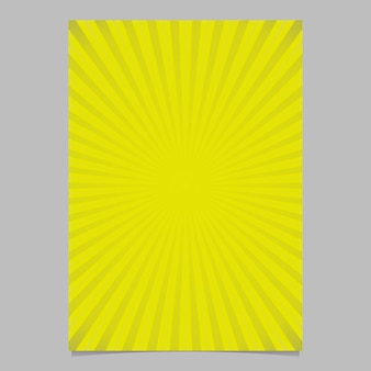 幾何学的な勾配抽象的な太陽の光線パンフレットカバーテンプレート - ラジオストライプとベクトルページの背景イラスト