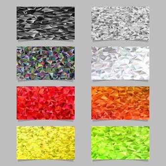 Многоугольный нерегулярный треугольник плитки набор фоне мозаики - современные векторные мозаики