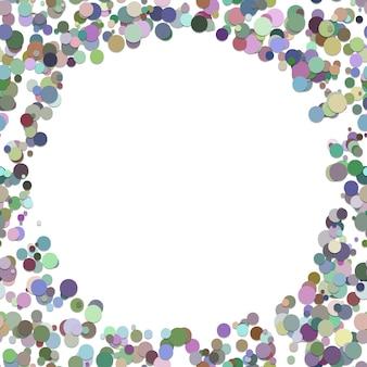 カラーランダムドット背景 - シャドウ効果とカラフルな円からトレンディなベクトル図