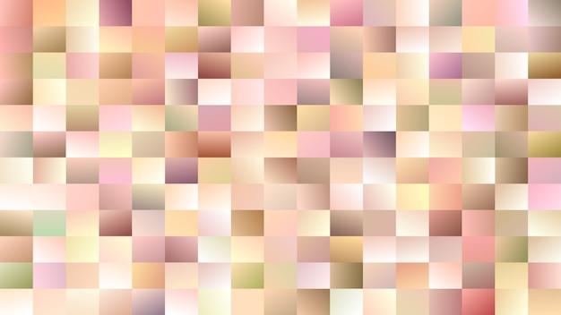 抽象的な四角形の背景 - カラフルな四角形からの勾配モザイクベクトルの設計