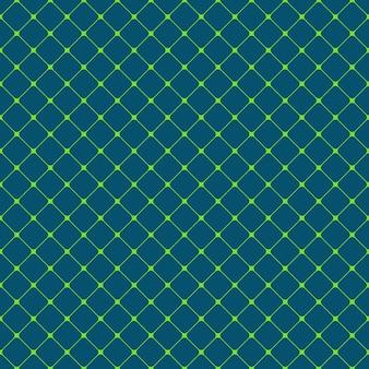 シームレスな丸い四角い格子パターンの背景 - 対角線の四角形からのベクトル設計