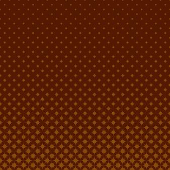 茶色の幾何学的なハーフトーンの星のパターンの背景