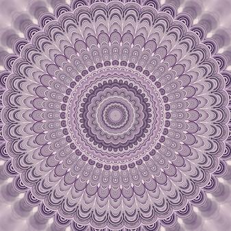Светло-фиолетовый богемный мандала фрактальный фон