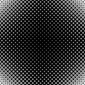 幾何学的なハーフトーン円のパターンの背景