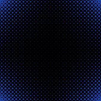 幾何学的な抽象的なハーフトーンの円のパターンの背景