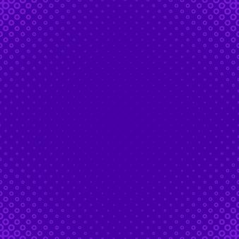 紫の幾何学的なハーフトーンの円のパターンの背景