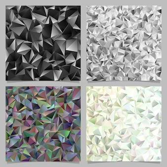 幾何学的な抽象的なタイルの三角形のパターンの背景セット