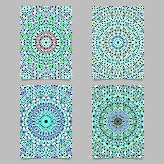 Гравийная мозаика мандала шаблон плакат фон набор