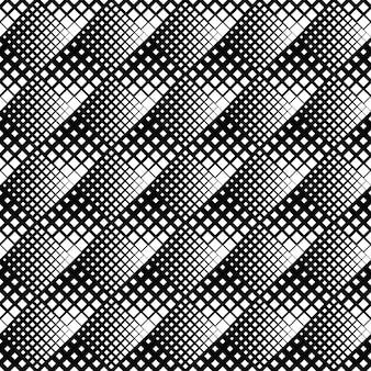 黒と白の抽象的な斜めの正方形のパターンの背景