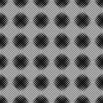 黒と白の幾何学的円のシームレスパターン