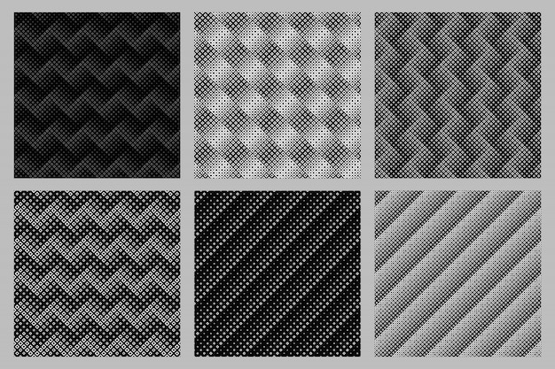 シームレスな抽象的な正方形パターン背景セット