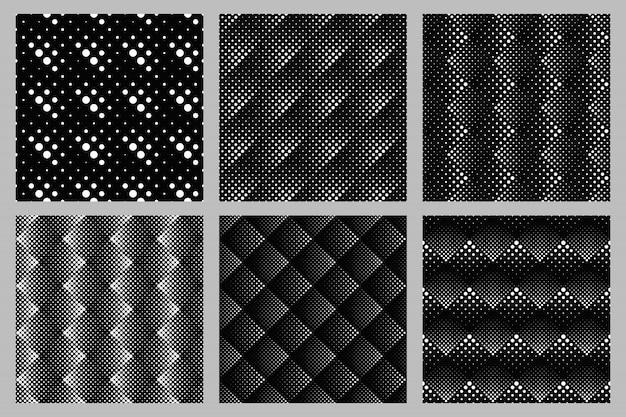 抽象的なシームレスドットパターン背景デザインセット