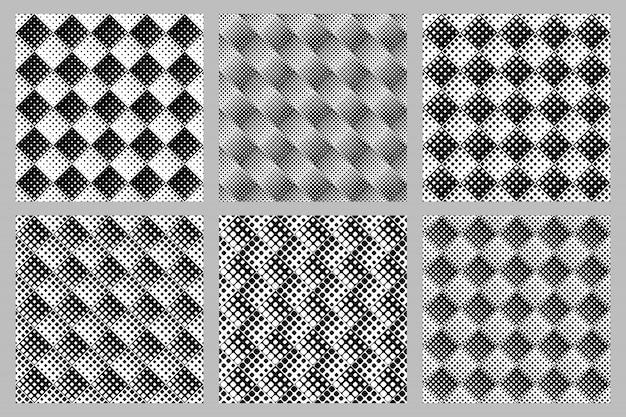 正方形の幾何学模様の背景セット - 抽象的なベクトルのデザイン