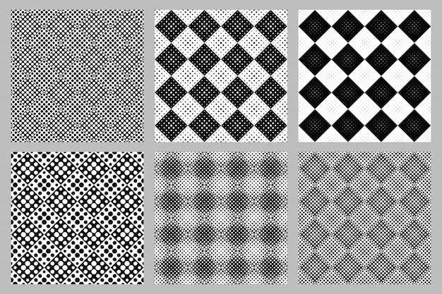 抽象的なサークルパターン背景デザインセット
