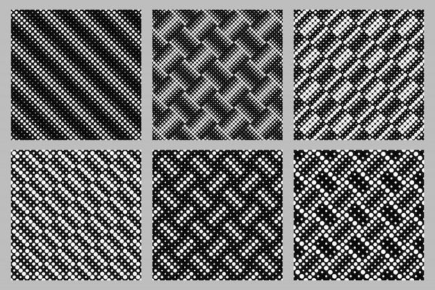 幾何学的なシームレスなサークルパターン背景デザインセット