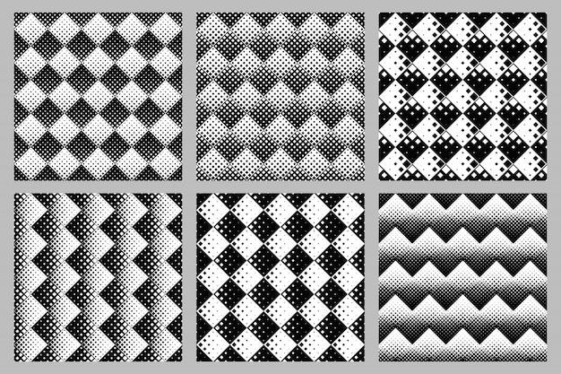 正方形パターン背景セット - 抽象的なベクトルグラフィックデザイン