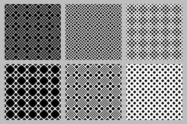 抽象的なシームレスな正方形パターン背景セット