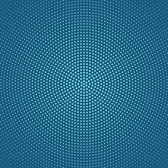 幾何学的なハーフトーン円形ドットパターン背景デザイン