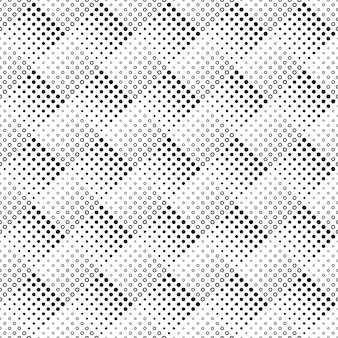 幾何学的なシームレスなモノクロ抽象円パターン背景