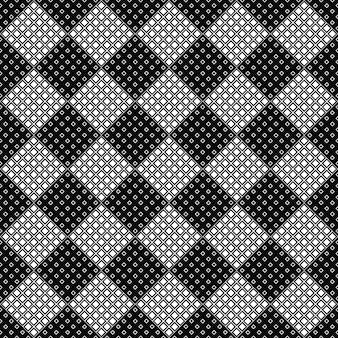 抽象的なシームレスな黒と白の斜めの正方形のパターンの背景