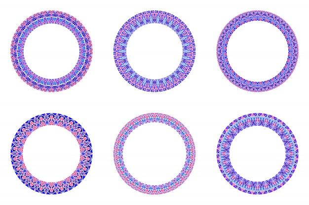 Геометрическая мозаика границы набора - круглые круглые векторные элементы