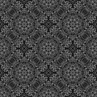 黒と白の抽象的な東洋宝石飾りパターン背景