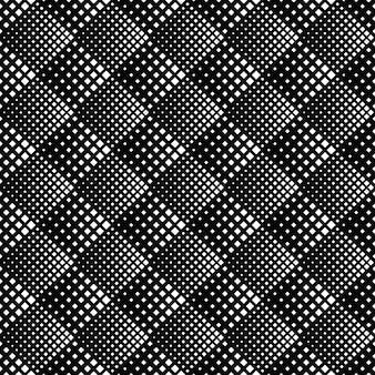 斜めの正方形のシームレスパターン-モノクロ