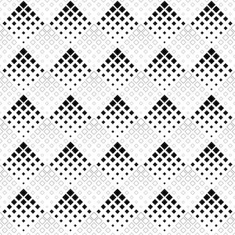 黒と白のシームレスな抽象的な正方形のパターンの背景