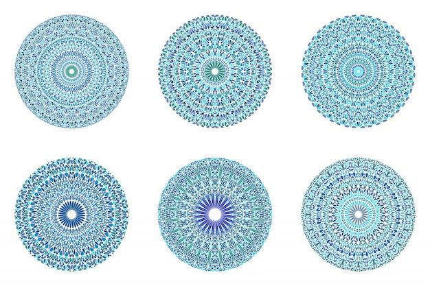 Мандала цветочный орнамент набор - витиеватый геометрический абстрактный рисунок