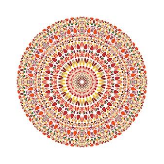 丸い抽象的な円形のカラフルな砂利飾りマンダラ