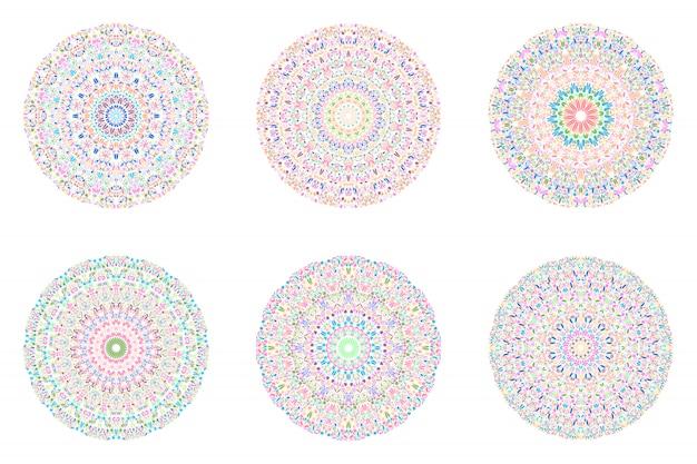 Круглый геометрический набор круглых лепестков