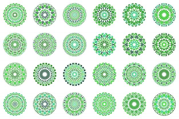 Красочный абстрактный цветочный набор мандалы