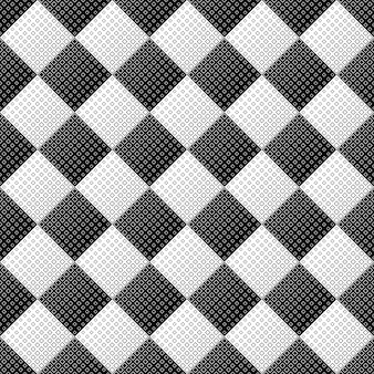 Абстрактный бесшовный монохромный квадратный узор фона