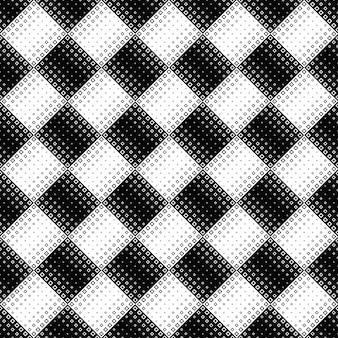 シームレスな黒と白の斜めの正方形のパターンの背景