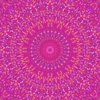 サイケデリックな抽象的なラウンド花モザイクパターンマンダラ背景
